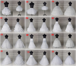Wholesale Cheap Wedding Dress Petticoats - 10 Style Cheap White A Line Ball Gown Mermaid Wedding Prom Bridal Petticoats Underskirt Crinoline Wedding Accessories Bridal slip Dresses