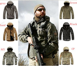 Wholesale Men Long Sleeve Epaulets - High quality Lurker Shark skin Soft Shell TAD V 4.0 Outdoor Military Tactical Jacket Waterproof Windproof Sports Army Clothing
