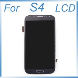 Wholesale Frame Sets - LCD screen for Samsung Galaxy S4 i9500 i9505 SIV New LCD Screen Replacement With Frame Full Set Display & Touch Screen Digitizer Assembly