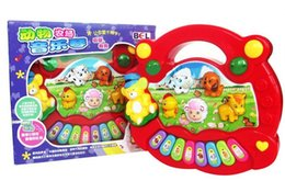 Wholesale Electrical Piano Musical Toys - Baby Popular Animal Farm Piano Music Toy Electrical Keyboard Developmental Piano Kid's Toy