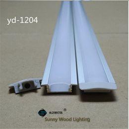 Tira led 3528 24v online-Shipping10set / lot libre 1m llevó el perfil de aluminio para la luz llevada de la barra, canal de aluminio de la tira llevada, vivienda de aluminio impermeable YD-1204