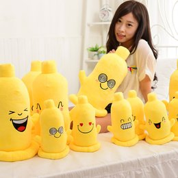 Wholesale Male Pillow Dolls - Wholesale-Funny condom doll creative fun pillow stuffed toy chest funny male and female friends girls birthday gift