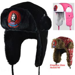 Wholesale Earflap Hat Women - Wholesale-Winter Hats For Men Women Bomber Hat Fur Hat With Ears Cap With Ear Flags Russian Hat Gorras Chapeu Snow Caps Frozen Earflap 8