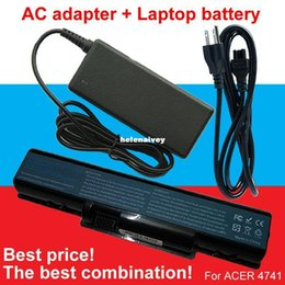 Wholesale Acer Aspire 5241 - Lowest price 1pcs AC Adapter+1pcs battery For Acer Aspire 4937 5235 5236 5241 5334 5335 5338 5535 5536 5536G 5541 5541G 5732Z 5734Z 5735