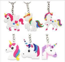 крючки для хэллоуина Скидка Единорог брелок милый 6 Дизайн животных лошадь пони ПВХ брелки женщины сумка очарование брелок кулон подарки высокого качества K288