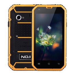 """Wholesale Shockproof Phone Android Dual Core - NO.1 M2 Outdoor 4.5"""" 3-Proof Smartphone Waterproof Shockproof Dustproof MTK6582 Android 5.0 Mobile Phone 8GB Dual camera 13MP"""