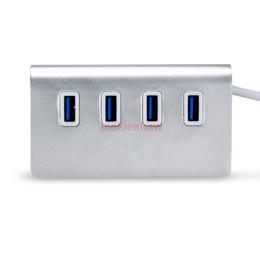 Wholesale Aluminium Anodised - 3.0 USB Hub 4 Port USB Hub Aluminium Hub Adapter for Apple Macbook Pro Mac PC Laptop Anodised Aluminium High Speed Hot