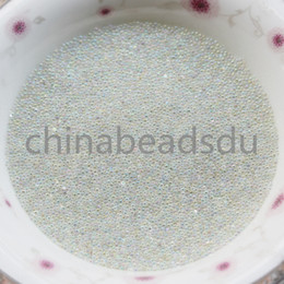 Wholesale Purple Glass Seed Beads - wholesale loose nail art accessories various colors 0.6-0.8MM clear round micro glass seed bead