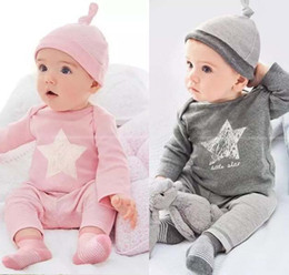 Wholesale 18 Month Winter Dress - Baby Clothes Baby Dresses Clothes Pink Gray Pure Cotton Fashion 3 pcs lot Long Hot Sale Free Shipping