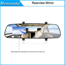 Wholesale Hd Lcd Video - 2016 New 2.7'' 1080P HD LCD Car DVR Camera Dash Cam Video Recorder Rearview Mirror 5V 1A 010228