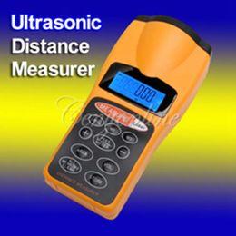 Wholesale Distance Measurer Area Volum Meter - Up to 18 LCD Digital Handheld Promotions Ultrasonic Tape Area Volum Laser Meter Pointer Distance Measurer Estimator Range 60FT