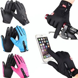 Wholesale Wholesale Thermal Gloves - Windstopper Outdoor Snowboard Skiing Riding Bike Cycling Gloves Windproof Winter Gloves Thermal Warm Touch Screen Gloves YYA768