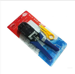 Wholesale Cable Connector Crimp - Network tools phone plugs tools 8P RJ-45 and 6P RJ-12, RJ-11 Crimp, Cut, and Strip Tool, network cable tool DHL free shipping