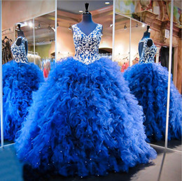 Wholesale Triangle Shaped Beads - Navy Blue Ball Gowns Quinceanera Gowns 2016 Heart Shaped Back Silver Embroidery Rich Ruffles Plus Size Quinceanera Dresses Pageant Dresses