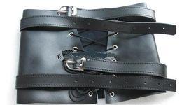 Wholesale Leather Bundle Sex - Leather Restraint Belt Adult Sex Toys PrCouple sex toys BDSM Bondage Leg Binder Thigh Cuffs Bundle Restraint