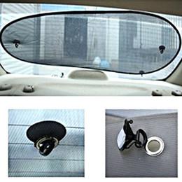 Wholesale File Car - Wholesale- Black Gauze Back Gauge 100*50cm Car Sunshade Sun File Window File Cover Mesh Visor Shield Screen Solar Protection