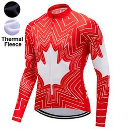 vêtements canada Promotion 2019 Canada USA maillot cycliste en molleton d'hiver / Vêtements de vélo d'hiver / maillot de cyclisme MTB P8