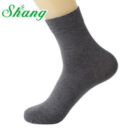 Wholesale Water Socks Men - Wholesale- BAMBOO WATER SHANG 5 paires lot Men Combed cotton socks men's pure cotton socks men's elite casual socks 5paires lot LQ-38