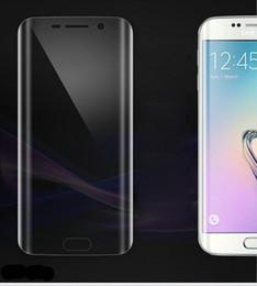Samsung s6 curva online-Para Galaxy S9 Note 8 S8 S10 PET claro Clear Film Guard 3D Curved Full Front Protector de pantalla Curva para Samsung S6 edge