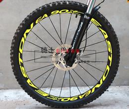 "mtb bike 26er Sconti All'ingrosso-New Cycling Wheels Rim Stickers Fluorescente riflettente adesivi fai da te 26 ""27.5"" 29 ""Pegatinas Moto Pegatinas Bicicletas"