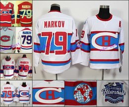 Wholesale Hockey Jerseys 79 - Latest 2016 Winter Classic Montreal Canadiens #79 Andrei MARKOV Men's NHL Hockey White Red Jersey Cheap Embroidery Stitch S-XXXX