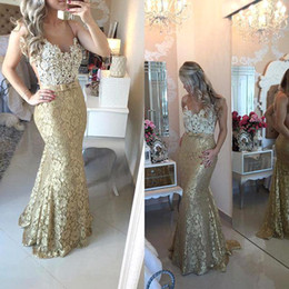 Wholesale Navy Knots - White Lace Beads Top Bodice Mermaid Evening Dresses 2016 Arabic Sheer Crew Neck Sleeveless Knot Bow Long Prom Dresses Vestidos BA1558