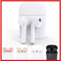 Wholesale Bluetooth Se - Hot i7 TWS Twins Wireless Earbuds Mini Bluetooth V4.2 Stereo Earphone For Iphone 7 plus 7 6s 6 plus SE Galaxy S8 Free Shipping