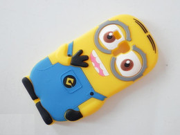 Wholesale Despicable S3 Cases - Wholesale-For Samsung Galaxy S3 mini Despicable Me Minion Soft Rubber Silicone Cases Back Cover For Samsung SIII mini i8190 case 1pcs lot