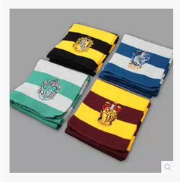 Wholesale Gryffindor Hufflepuff Ravenclaw Slytherin Scarf - Harry Potter Scarf Gryffindor Slytherin Hufflepuff Ravenclaw Knitted Neckscarf 4 Colors Available Xmas Halloween Birthday Gift Cosplay Wear