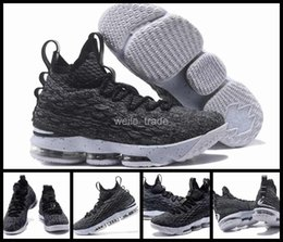 Wholesale Lebrons 12 - 2018 New Lebron LBJ 15 Men Basketball Shoes Cheap White Black Mens Sneakers Trainers Lebrons James Basket ball Retro Sports Shoes 7-12
