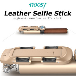 Wholesale Tripod Price Wholesales - Factory Price!Wholesale-2016 newest Arrival NOOSY BR11 High Quality Leather Bluetooth Selfie Stick with tripod for iOS Android DHL Free