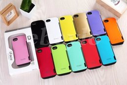 Wholesale Galaxy S4 Hard - 20pcs 2 in 1 iface Case For iphone 6 6plus 4 5 for Galaxy S3 S4 S5 Note2 Note3 Note4 PC+TPU Hard Case i face Cell Phone Cases with Card Slot