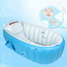 Wholesale Inflatable Toddler Swimming Pools - Blue Pink Kids Inflatable Swimming Pool Portable Baby Toddler Bathtub Eco Friendly Safe Children Playing Pool Swimming Accessories SK566