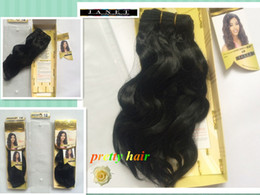 Wholesale Kanekalon Hair Weaves - Janet Collection ENCORE Without Retail Box PRO-MIX Loose Deep Wave Curly Hair Color 1B# Human Hair Blended Kanekalon Fiber Weave Weavings