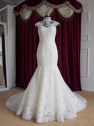 Wholesale Drop Ship Mermaid Dress - Sexy Mermaid Wedding Dress 2016 High Neck Robe De Mariage Lace Vestido De Noiva Drop Shipping