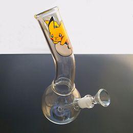 Wholesale Custom Bongs - New Arrive Hookahs Removable Tip Joint Glass Water Bong Large Diameter Beaker Base Cute Oil Rig Pipes Custom Made