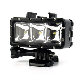 Wholesale Led For Gopro - Underwater 30m Waterproof High Power Dimmable LED Video POV Flash Fill Light Night Light For GoPro Hero 4 3+ 3 2 1 W2208A