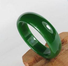 Wholesale Agate Bangle Jade - Women Bracelet Bangles Round grade Genuine Dark Green with Snow Texture Indian Jewelry Jadeite Jade Bracelets with Wooden Box 58mm-62mm