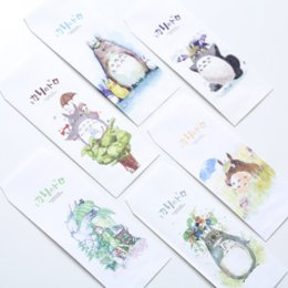 Wholesale Animal Stationary - Wholesale- 6 Pack =30 Pcs Cute Cartoon Animal My Neighbor Totoro Novelty Paper Envelope Letter Stationary Storage Paper Gift