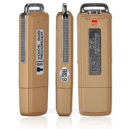 Wholesale Usb Digital Audio Voice Recorders - Wholesale 8GB Dictaphone USB Pen Drive MEMORY STICK Digital Audio Voice Recorder Useful JR
