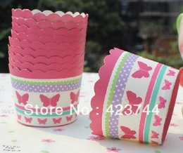 Wholesale Cupcake Cases Bulk - Butterfly bulk 100pcs lot High temperature baking paper cups cupcake liners cases wrapper cupcake Muffin paper cases