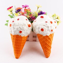 Wholesale wholesale sprinkles - Squishy 19cm Ice Cream Slow Rising Sprinkles Cream Scented Kawaii Jumbo Pendant phone Straps Charm Kid Toys Gift Bread Fun DHL Shipping