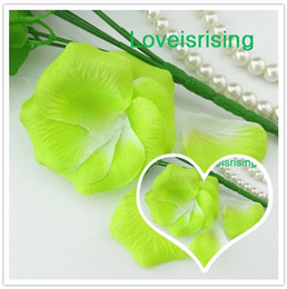 Wholesale Green Apple Decor - 5 packs(720pcs) Apple Green-White Non-Woven Fabric Artificial Rose Flower Petal For Wedding Party Favor Decor-Free Shipping