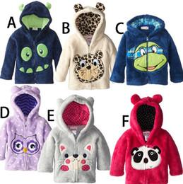 Wholesale Outwear Wind Jacket Baby - Baby Boys Girls Hooded Sweatershirt Coral Fleece Lovely Children Clothing Kids Warm Wind Coat Kid Outdoor Jacket Outwear Clothes K5778