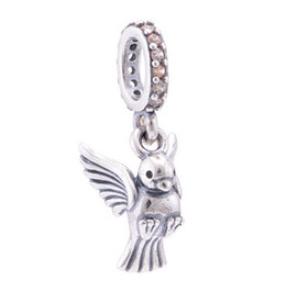 Wholesale Pandora Peace Charm - DOVE OF PEACE PENDANT CHARM DIY Beads Real Solid 925 Sterling Silver Not Plated Fits Original Pandora Bracelets & Bangles & Necklaces