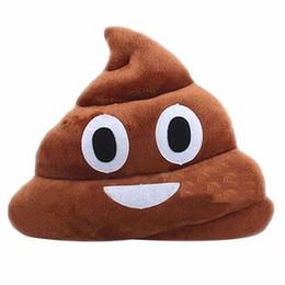 Kissen geschenk niedlichen scheiße poop gefüllt online-Kissen Emoji Kissen Geschenk Cute Shits Poop Stofftier Puppe Weihnachtsgeschenk Lustige Plüsch Kissen Kissen kostenloser Versand
