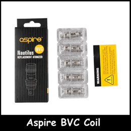 Wholesale BVC Coil clone for Nautilus Mini Replacement Vertical Coil ohm ohm ohm Resistance Replacement Coil by DHL free