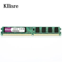 Wholesale Ram Memory Ddr2 Dimm - Kllisre DDR2 2GB Ram 800Mhz PC2-6400U 240PIN DIMM Desktop memory