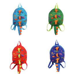 Wholesale Cups For Children - Dinosaur Printing Knapsack New Children Anti Lost Backpack Cartoon Animals SchoolBag Gift For Kids 16 72my C R