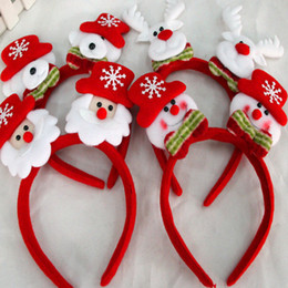Wholesale Moose Toys - Wholesale-New 5 pcs lot Santa Claus Doll Plush Toy With Light Christmas Dolls For Girls Christmas Gifts Santa Claus Snowman  Moose